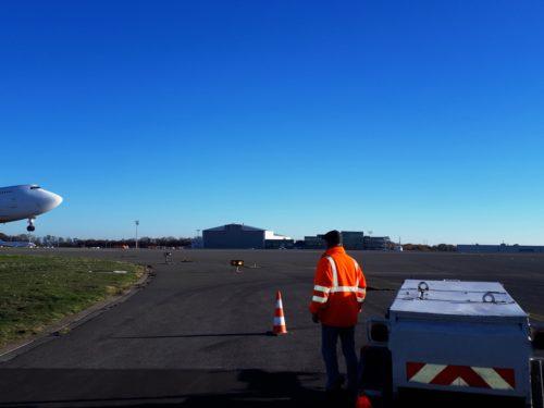 Chemisage continu sous les pistes de Liège Airport