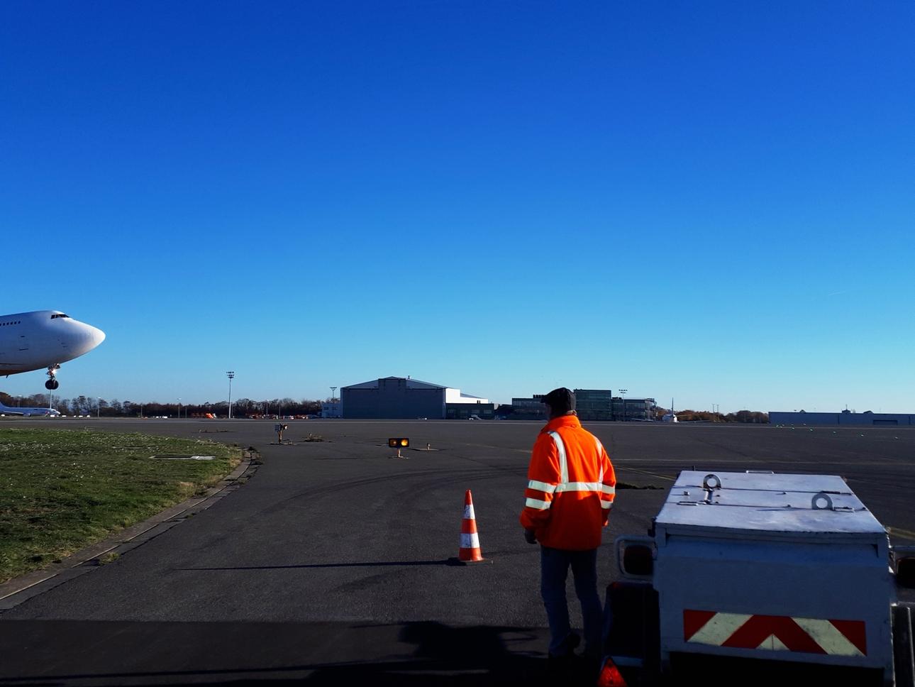 Chemisage continu DN 600mm sous les pistes de Liège Airport