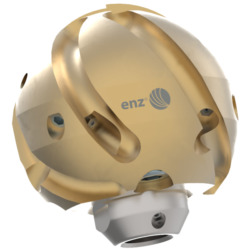 Buse de curage rotative et de débouchage de canalisations en forme de boule