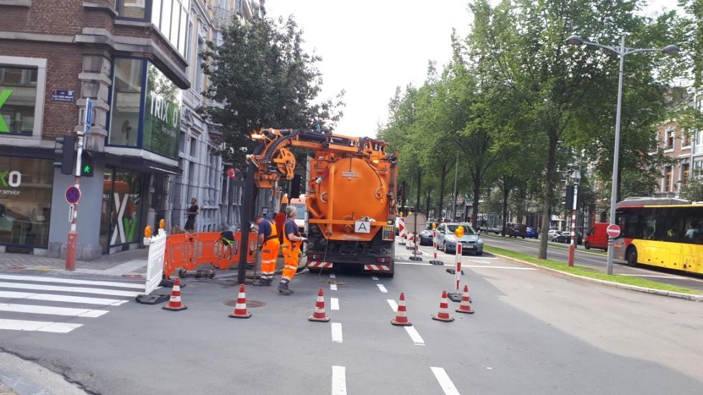 Curage des égouts structurants de la Ville de Liège